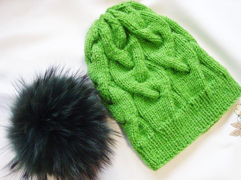 Shamrock Cable Knit Hat Allfreeknitting