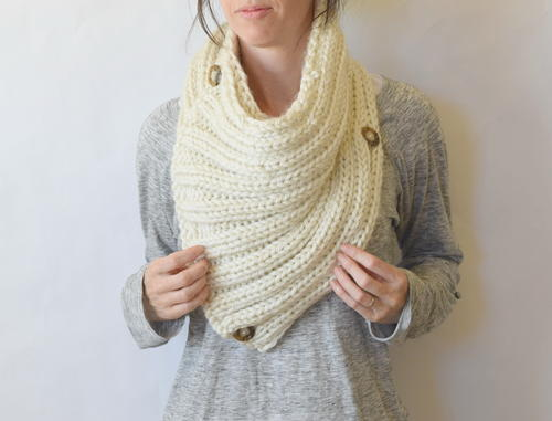 Two Ways Giant Knit Cowl