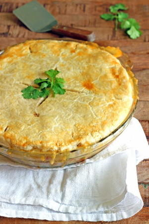 Ham and Mashed Potato Pot Pie
