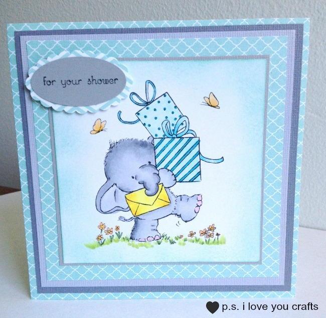 Elephant baby shower card allfreepapercrafts m4hsunfo