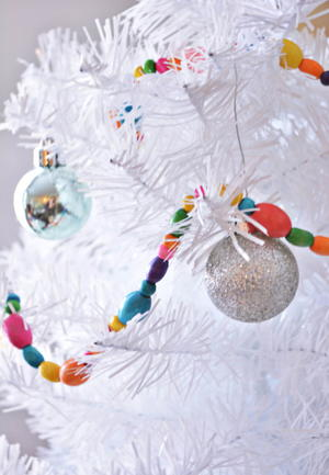 easy beaded diy christmas garland - Beaded Christmas Garland