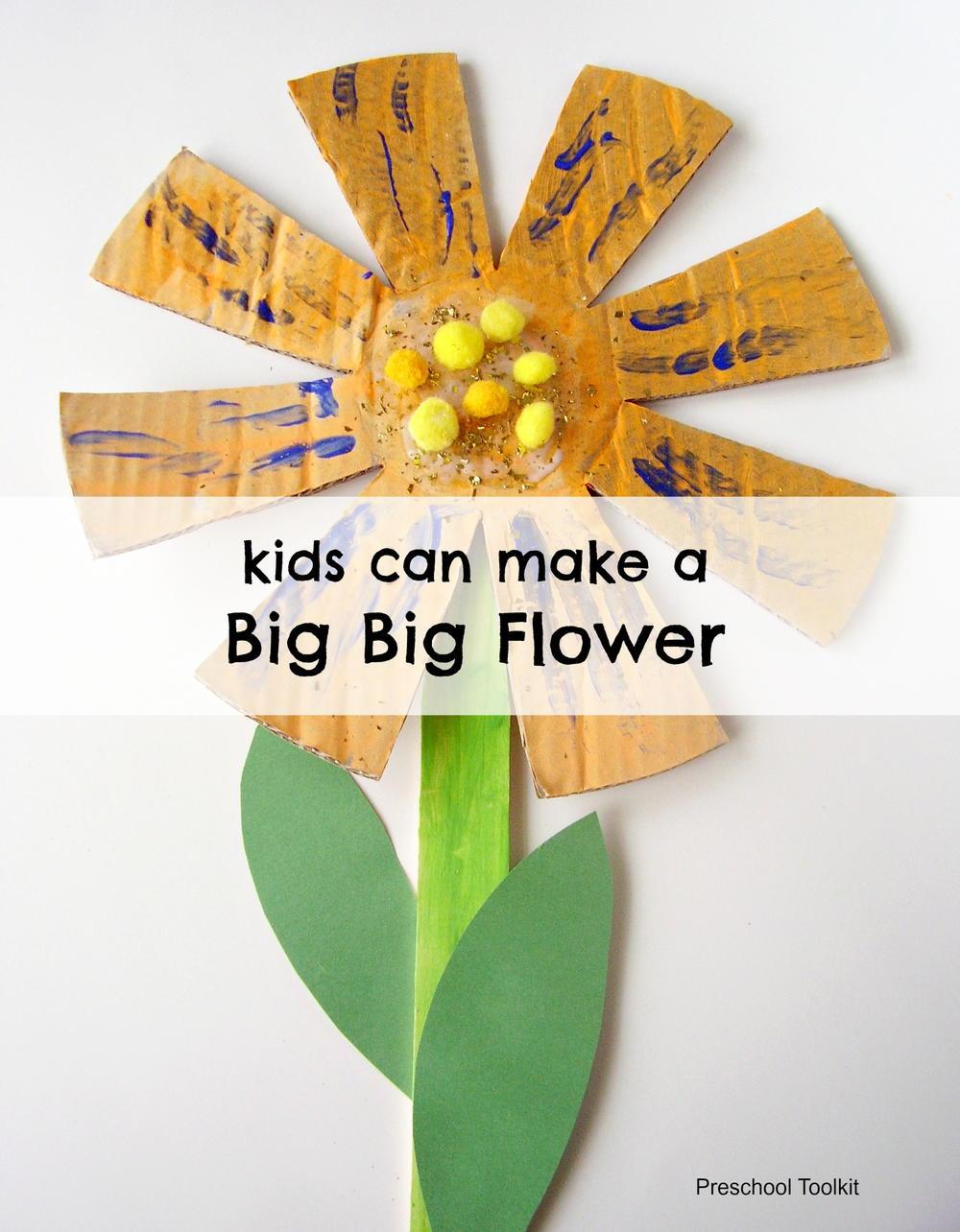 A Big Big Flower Craft For Kids Allfreekidscrafts
