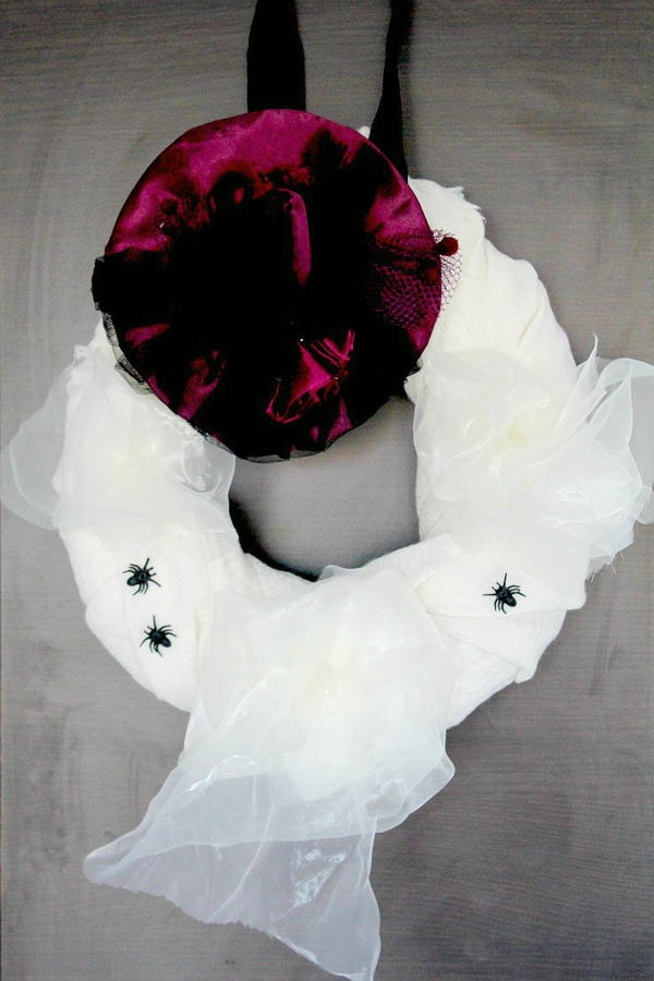 Halloween Scarf DIY Wreath