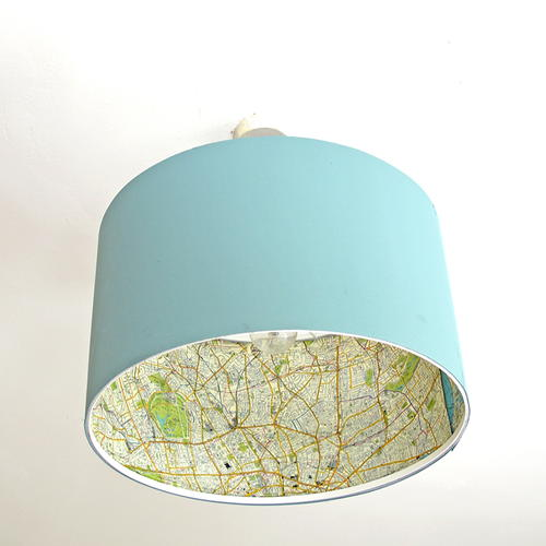 DIY IKEA Map Lamp Hack