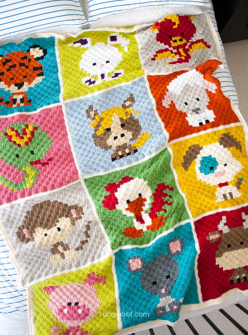 27 crochet animal blanket patterns allfreecrochet animal crochet afghan patterns that are perfect for baby showers bankloansurffo Gallery