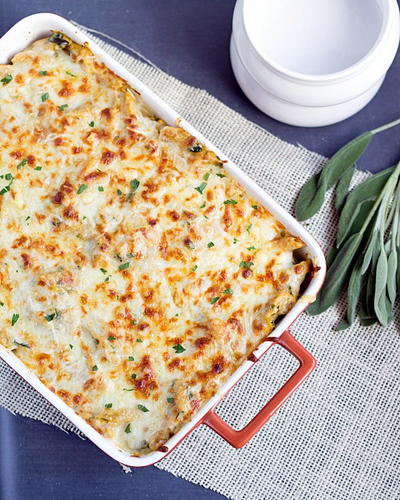 Four Cheese Pumpkin Pasta Bake