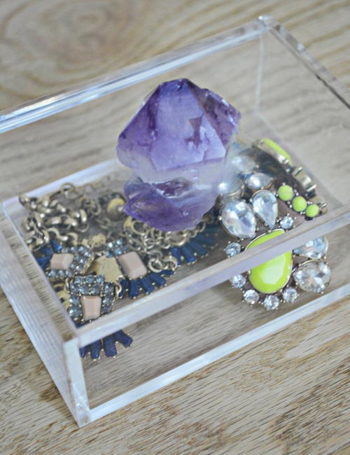 Amethyst DIY Jewelry Box Anthropologie Knockoff FaveCraftscom