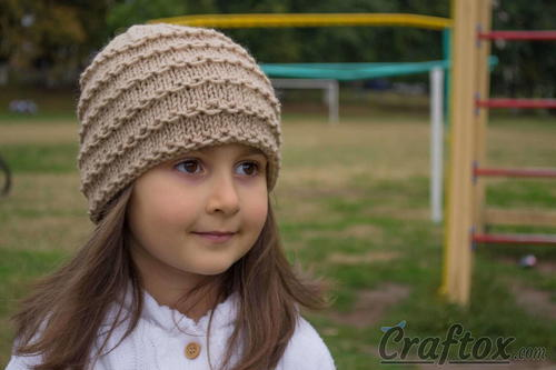 Chain Link Knit Hat Pattern Allfreeknitting
