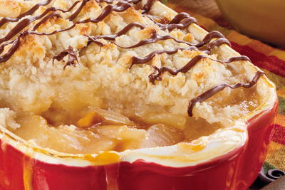 Extreme Caramel Apple Crisp
