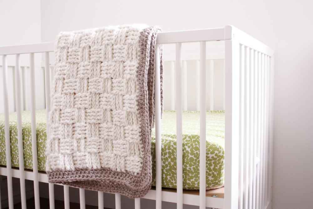 Plush Basketweave Baby Blanket Pattern Favecrafts