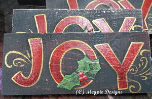 Christmas Joy DIY Painted Signs