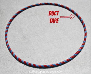 Old School Duct Tape DIY Hula Hoop
