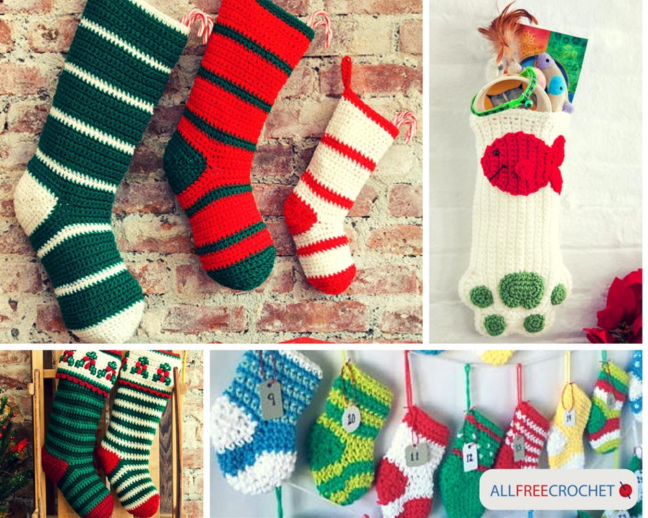 34 crochet christmas stockings allfreecrochetcom