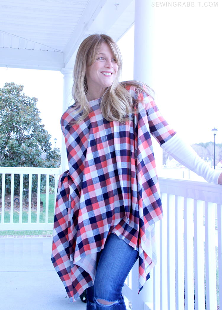 Michael Kors Inspired Poncho Pattern Allfreesewing