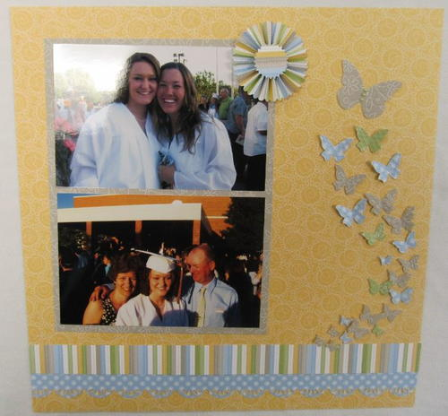 Fly Free Scrapbook Layout