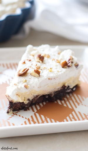 Brownie Bottom Pumpkin Cream Pie
