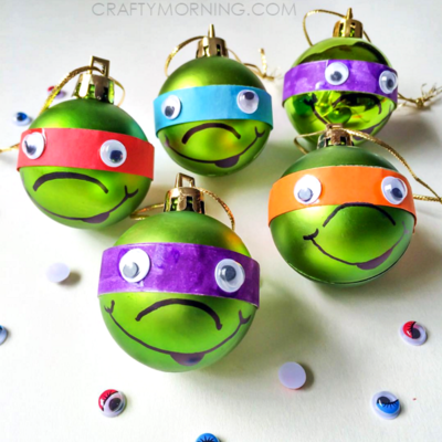 cute ninja turtle diy christmas ornaments - Cute Diy Christmas Decorations