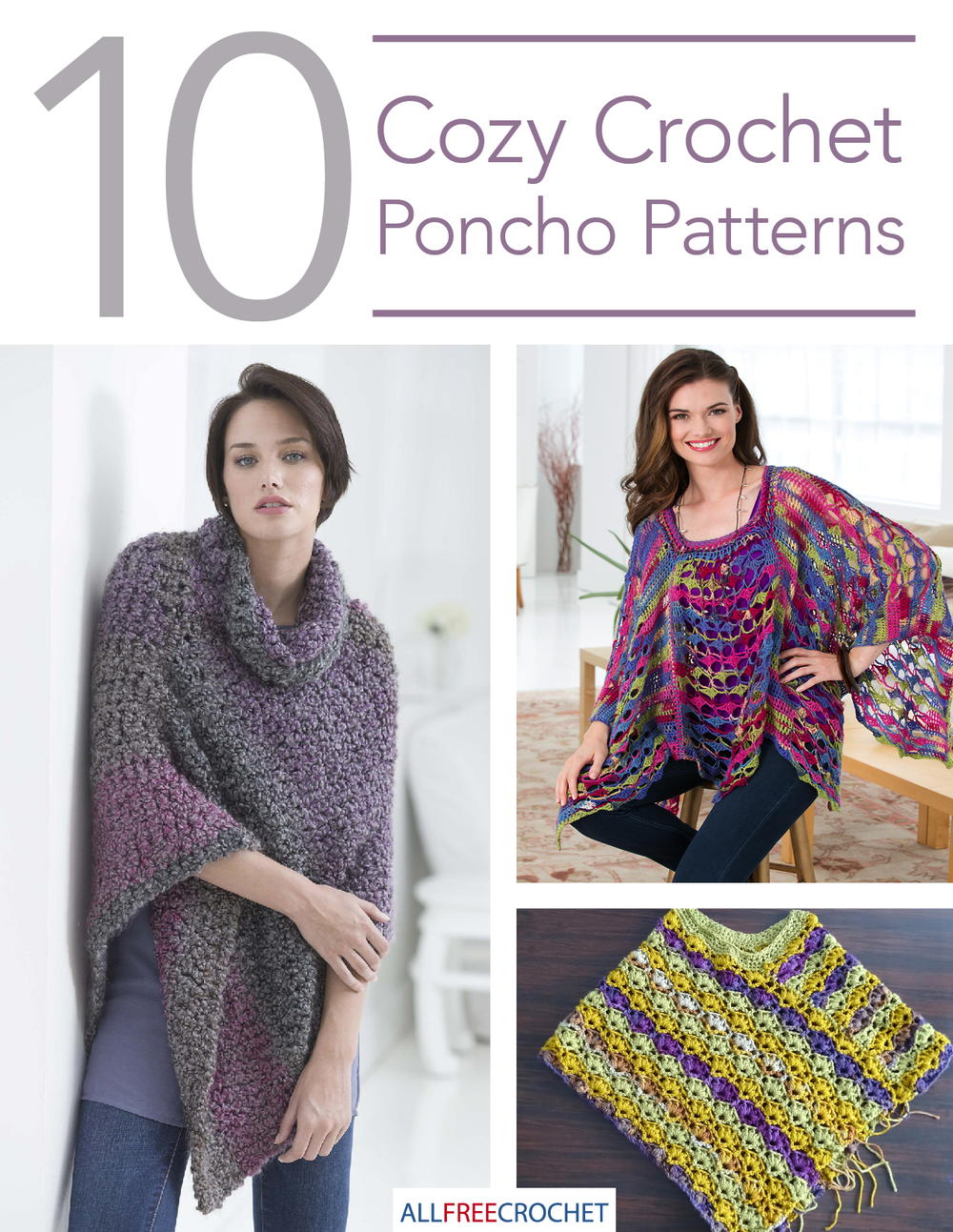 10 Cozy Crochet Poncho Patterns | AllFreeCrochet.com