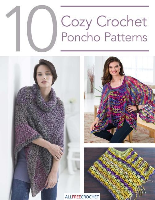 10 Cozy Crochet Poncho Patterns | AllFreeCrochet.com