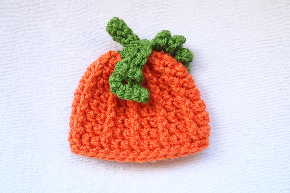 Pumpkin Crochet Preemie Hat Allfreecrochet