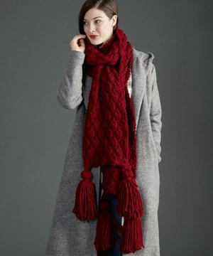 Regal Ruby Knit Scarf