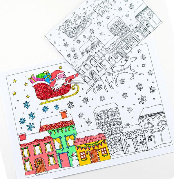 Printable Christmas Coloring Pages and Cards