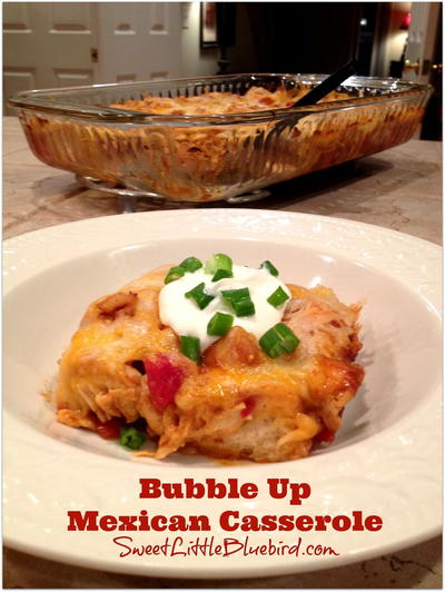 5-Ingredient Bubble-Up Mexican Casserole