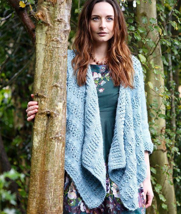 Waterfall Cardigan Knitting Pattern   AllFreeKnitting.com