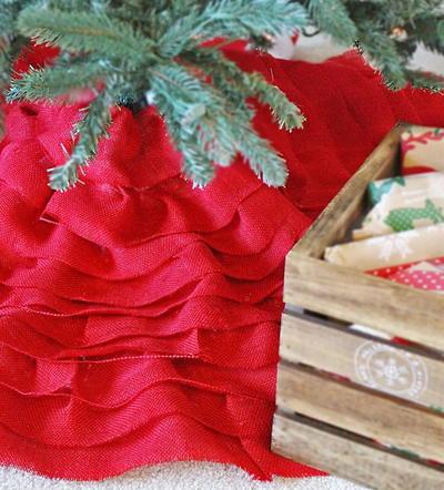 diy burlap christmas tree skirt - Diy Christmas Tree Skirt