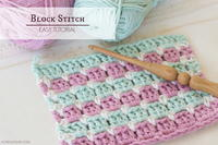 How To: Crochet The Block Stitch