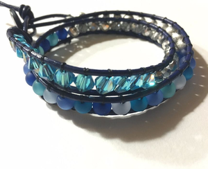 Boho Chic Beaded Wrap Bracelet