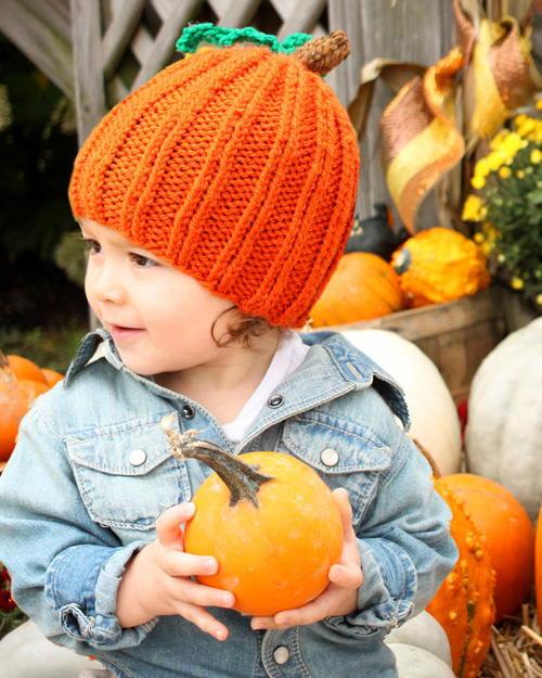 Toddler Pumpkin Hat Knitting Pattern Allfreeknitting