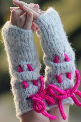Neon Ruched Mitts