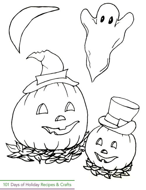 Exclusive Printable Halloween Coloring Page