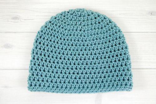 Dusty Blue Bulky Crochet Beanie Allfreecrochet