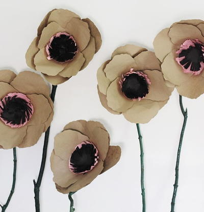 22 paper flowers for fall allfreepapercrafts earth friendly recycled paper flowers mightylinksfo