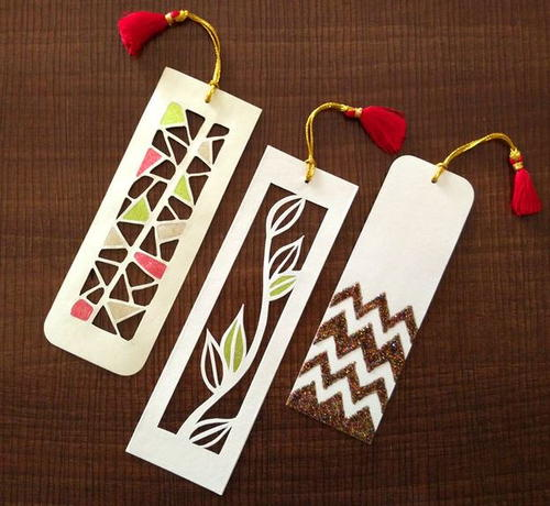 Pretty Paper Cutting Art DIY Bookmarks