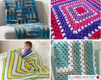 25 Crochet Granny Square Afghans Allfreecrochet