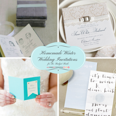 14 Homemade Winter Wedding Invitations for the Budget Bride