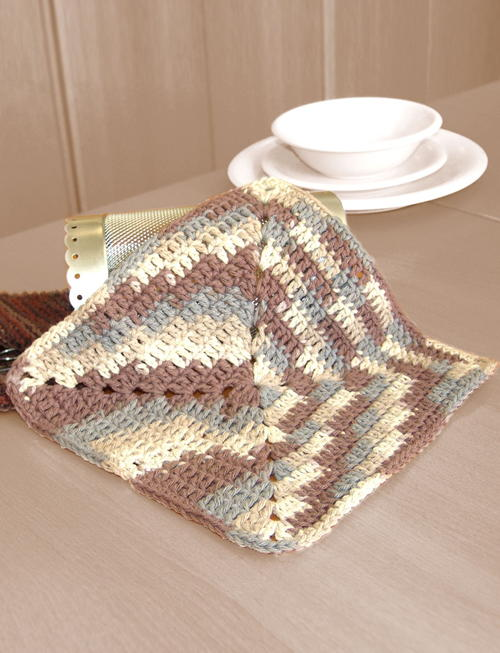 Easy Ombre Dishcloth Crochet Pattern