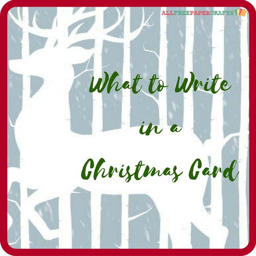 What to write in a christmas card allfreepapercrafts what to write in a christmas card m4hsunfo