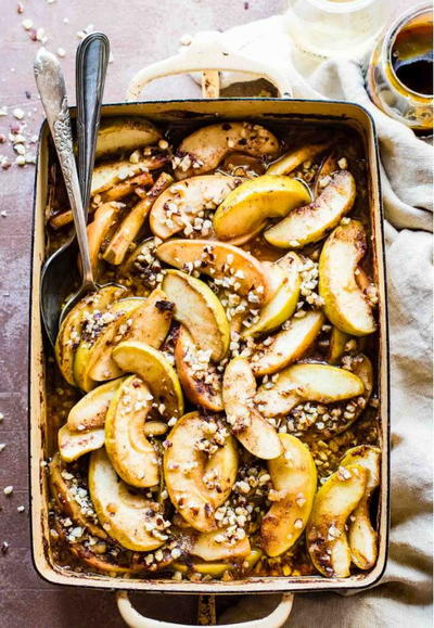 Caramelized Apple Cider Fruit Bake