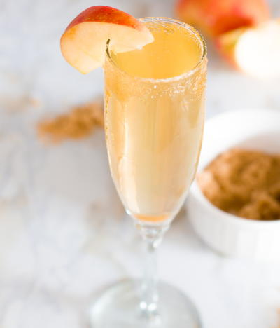 Crisp Apple Cider Mimosas