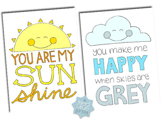 You Are My Sunshine Coloring Pages