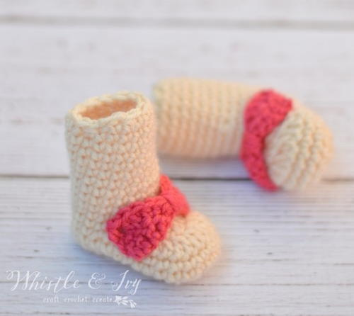 Newborn Baby Booties Crochet Pattern