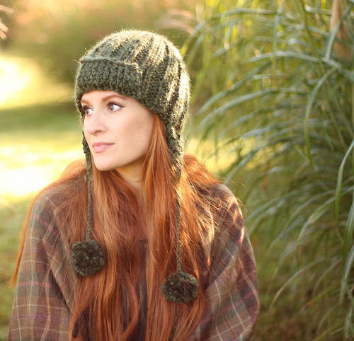 Moss Trapper Hat Knitting Pattern Allfreeknitting