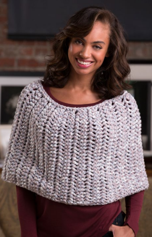Honeycomb Knit Poncho Pattern