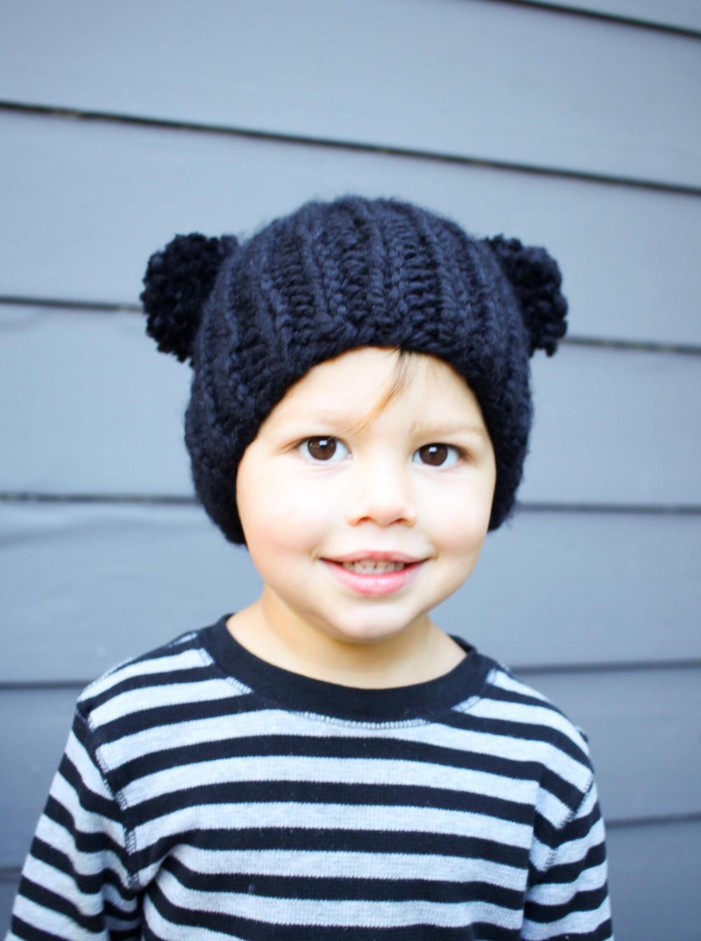 Easy Bear Knit Beanie   AllFreeKnitting.com