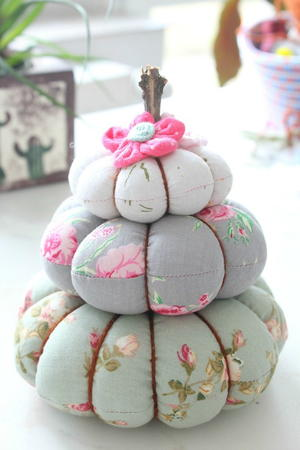 Pumpkin Trio Pincushion Tutorial