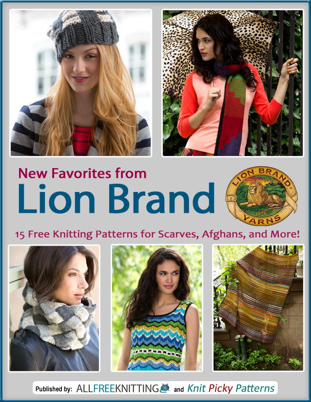 New Favorites From Lion Brand 15 Free Knitting Patterns For Scarves